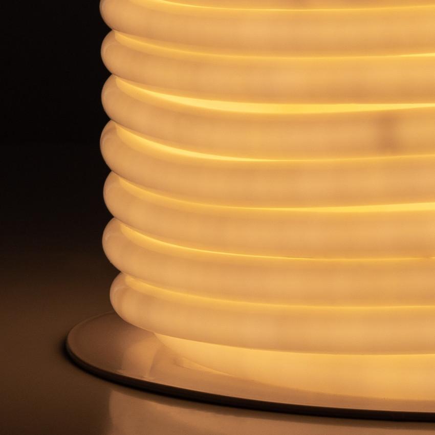 Bobina Neón LED Flexible Circular 360 120LED/m IP67 Blanco Cálido 50 Metros