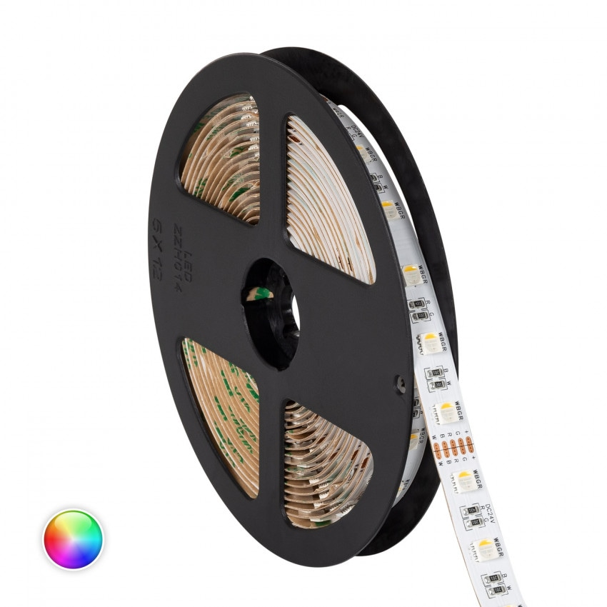 Fita LED RGBW 24V DC 60LED/m 5m IP20