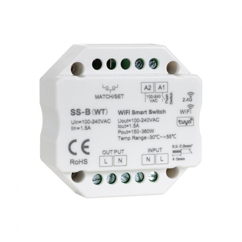 Interruptor LED WiFi RF Compatible con Pulsador