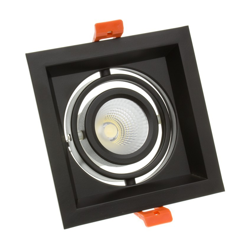 Foco Downlight LED CREE-COB Direccionável Madison Preto 10W LIFUD (UGR 19) Corte 110x110 mm