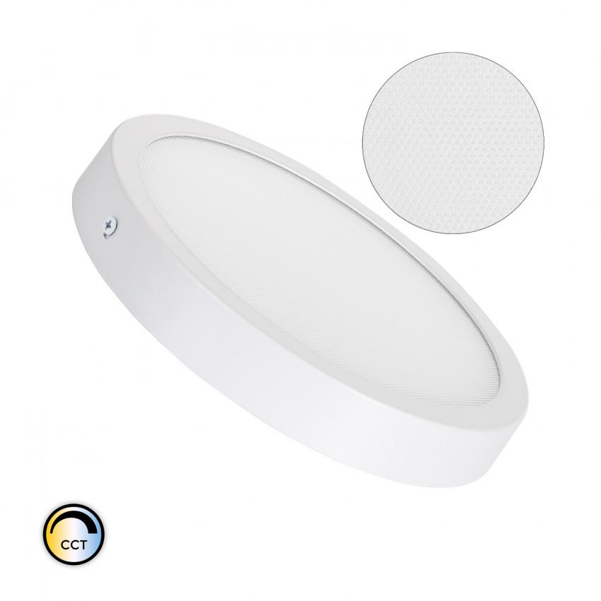 Plafón LED 18W Circular Superslim (CRI90) Microprismático CCT Seleccionable (UGR17)
