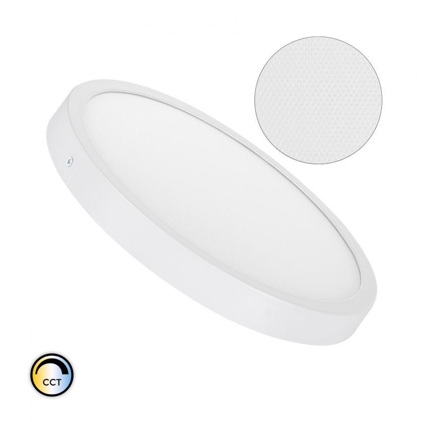 Plafón LED 24W Circular Superslim (CRI90) Microprismático CCT Seleccionable (UGR17)