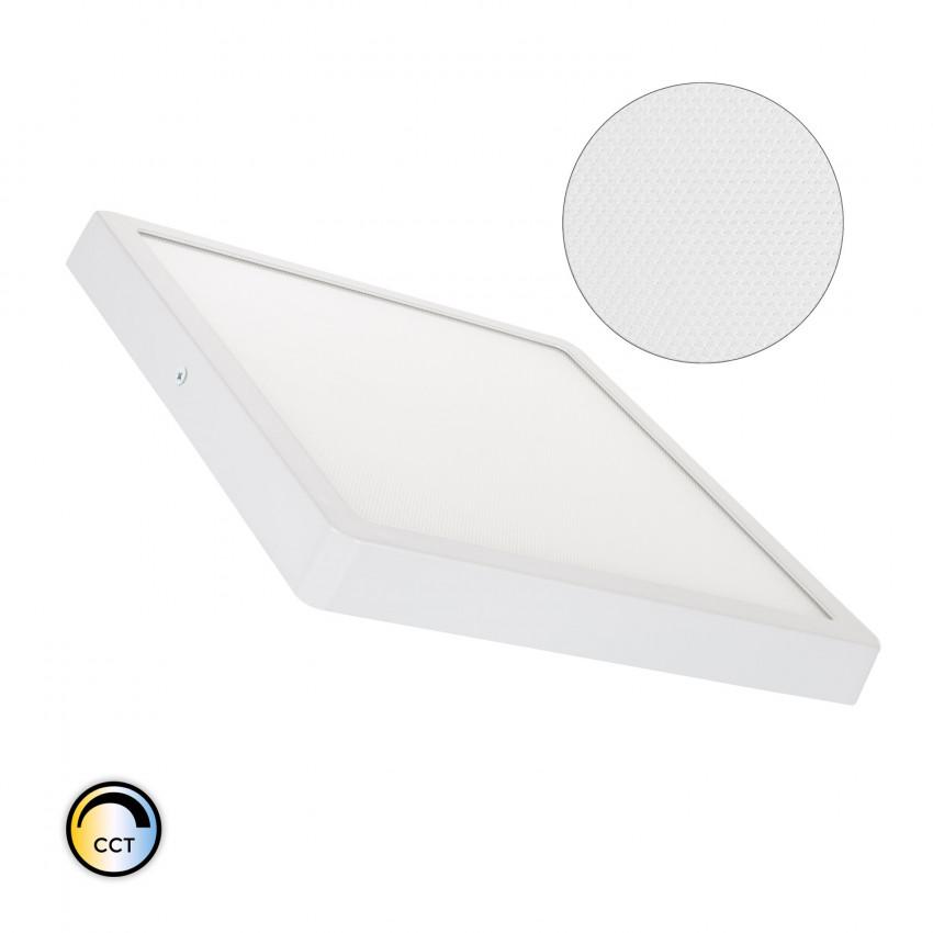 Plafón LED 24W Cuadrado Superslim (CRI90) Microprismático CCT Seleccionable (UGR17)
