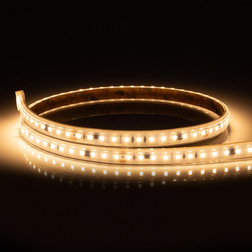 Tira LED Sin Rectificador a 220V AC 120 LED/m Blanco Cálido IP65 High Lumen a Medida Corte cada 10 cm