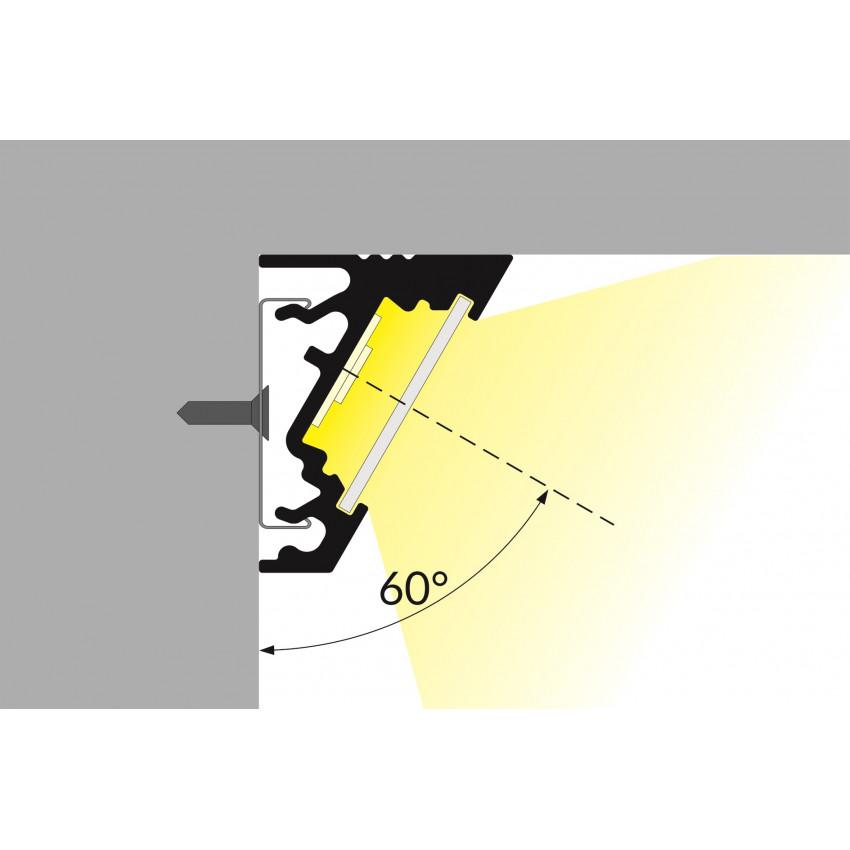 Perfil de Alumínio de Esquina Variável de 1m para Fitas LED Até 10mm