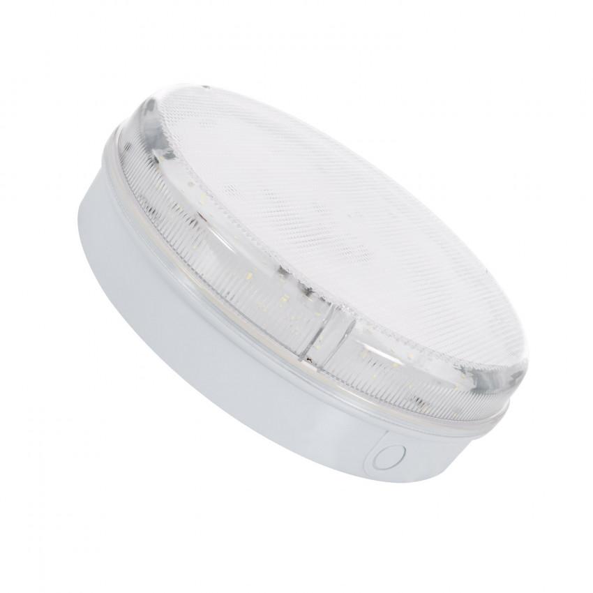 Plafón LED 24W Circular Hublot Transparente com Luz de Emergência Não Permanente IP65