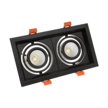 Foco Madison LED Direccionable COB 2x10W Black