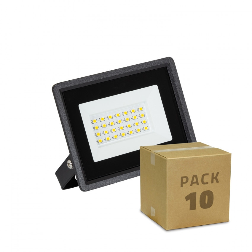 Pack Foco Proyector LED 20W Solid IP65 (10 un)