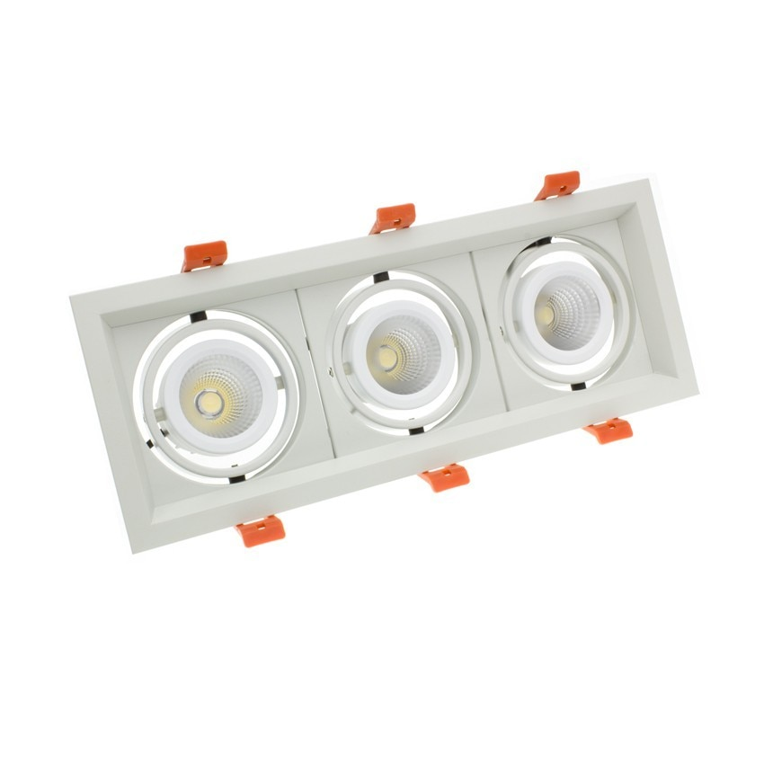 Foco Downlight LED CREE-COB Direccionable Madison 3x10W LIFUD (UGR 19) Corte 295x110 mm