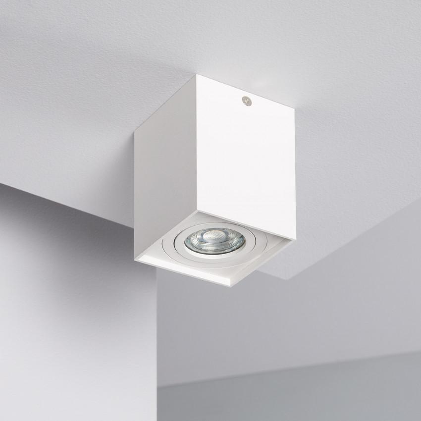Aplique Tecto Jaspe Aluminio Branco