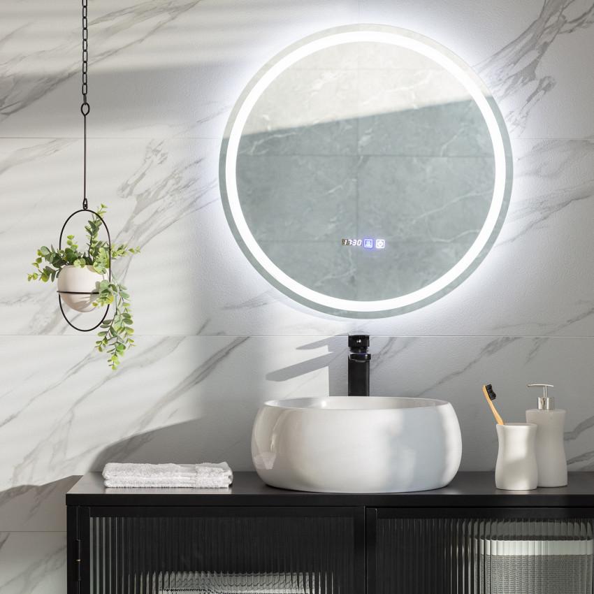 Espejo LED Antivaho Táctil Stiniva Ø60 cm