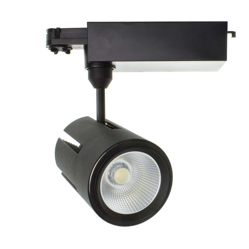 Foco LED Gatling para Carril Trifásico 40W Negro