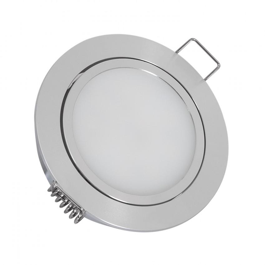 Downlight LED 3W 12V DC Direccionable con Conector Rápido Corte Ø 67 mm