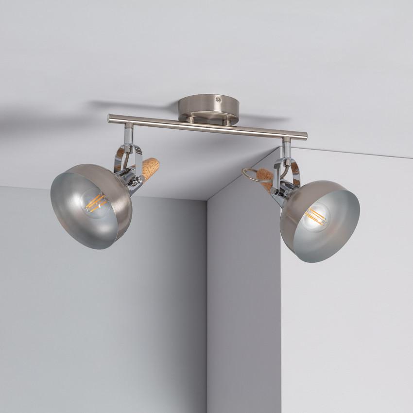 Lámpara de Techo Orientable Emer 2 Focos Plata