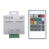 Controlador Tira LED RGB 12V,  Dimmer por Control Remoto RF 20 Botones