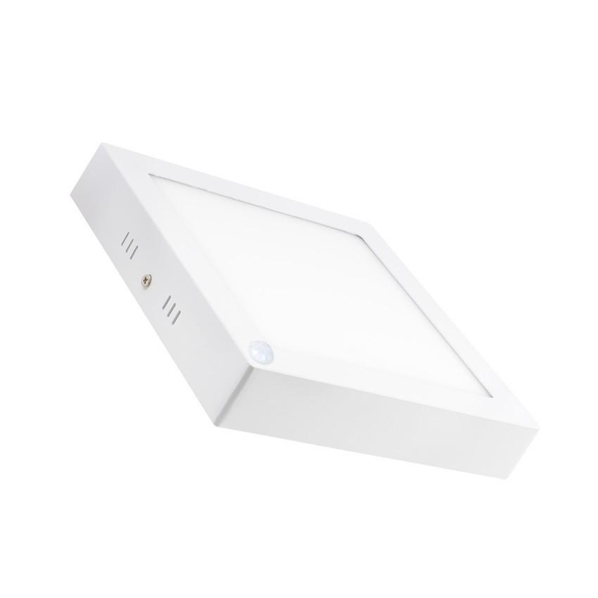 Plafón LED 18W Cuadrado con Detector de Movimiento PIR