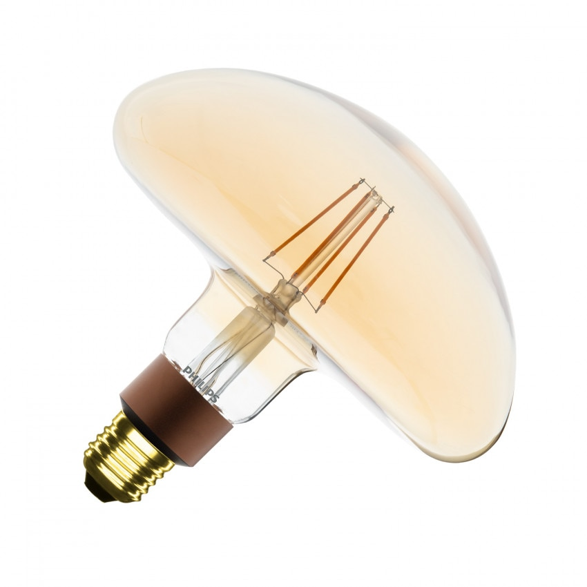Lâmpada LED E27 Regulável Filamento Gold Classic PHILIPS Mushroom G202 5W