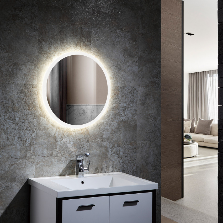 Espelho Decorativo LED Anti-embaçante Tátil Creta 15/35/55W