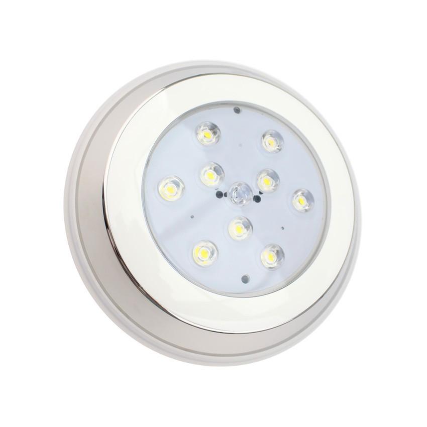 Foco Piscina LED Superfície Inox 9W