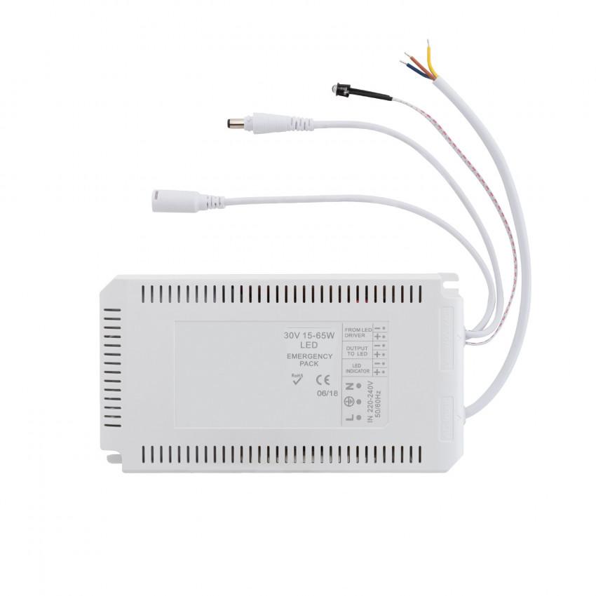 Driver con Batería para Paneles LED de Emergencia 30V DC 15-65W